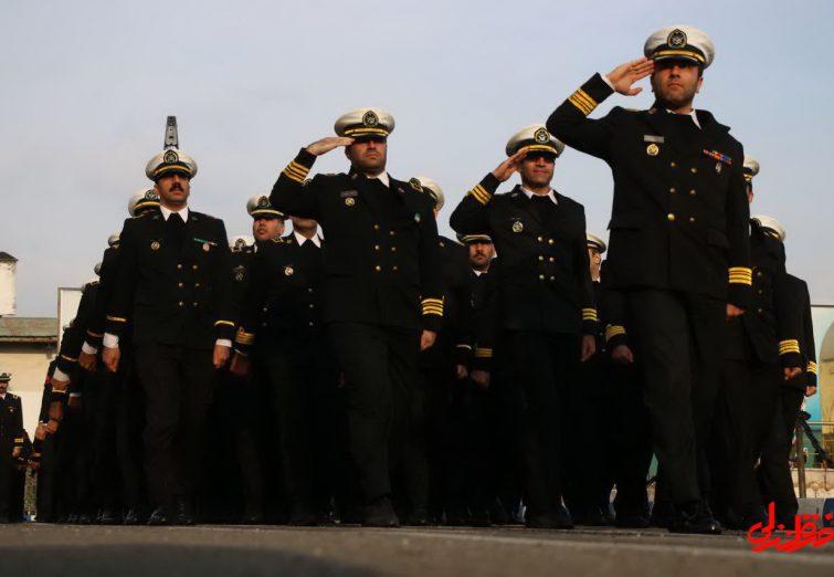 تصاویری از صبحگاه و رژه دریادلان نیروی دریایی در بندرانزلی