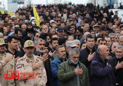 گزارش تصویری از راهپیمایی و سوگواری مردم انزلی در محکومیت ترور سردار شهید سلیمانی