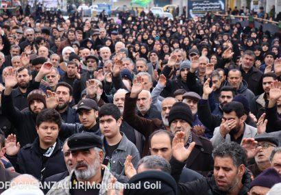 گزارش تصویری از تجمع فاطمیون در بندرانزلی
