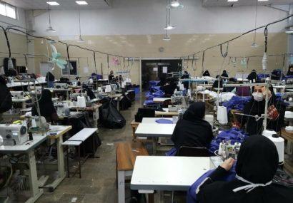 تولید ماسک و لباس پزشکی در منطقه آزاد انزلی