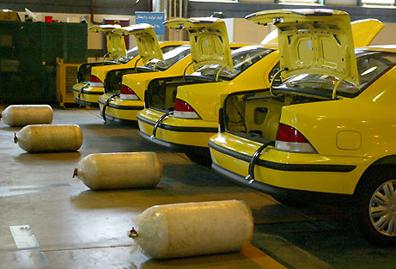 اعطای تسهیلات برای گازسوز شدن ۱۲۰ تاکسی شهری در بندرانزلی